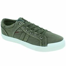 Replay Lampe Military Green Mens Trainers