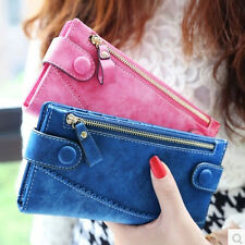 New Clutch Change Card Coin Bag Zip Long Women Purse Ladies Handbag Wallet 2016