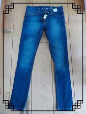 RIVER ISLAND SKINNY STRETCH WASHED INDIGO BLUE JEANS 26 WAIST REGULAR BNWT
