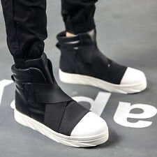 Fashion Mens Punk High Top Sneakers Sports Casual Shoes Motor Boots Ankle Boots