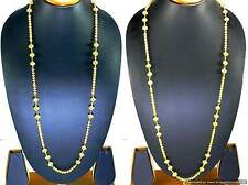 Ball Chains Necklace Gold Plated Beautiful Designs in lengths of 36 and 42 inch