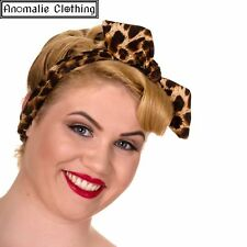 Banned Dancing Days Aria Leopard Print Headband Rockabilly Retro Pinup Rock'n...