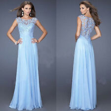 Women Sexy Floral Lace Bridesmaid Evening Gown Formal Party Prom Long Maxi Dress