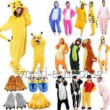 Kids Adults Animal Kigurumi Pajamas Cartoon Cosplay Pyjamas Sleepwear Slippers