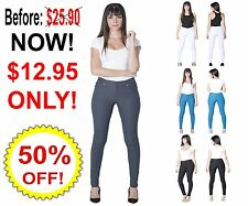 Womens Sexy Slim Pencil Jeans Stretchy Leggings Pants Denim Skinny Jeggings
