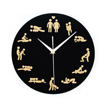 Sexual Position Clock / 24Hours Sex Clock/Novelty Adult Only Wall Clock New 711U