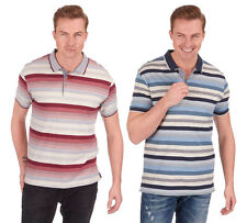 New Mens URBAN REVIVAL Jersey Stripe Polo T Shirt Short Sleeve Cheap Holiday Top