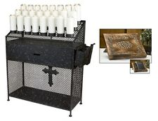 Catholic Church Wrought Iron Devotional Candle Stand & Accessories & Bible Stand