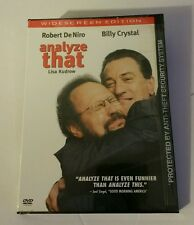 ANALYZE THAT NEW DVD FACTORY SEALED WIDESCREEN EDITION DENIRO, CRYSTAL