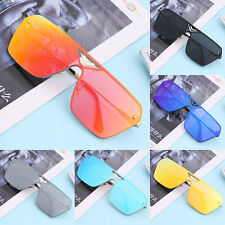 Metal Unisex Fashion Classic Big Frame Design Retro Aviator Sunglasses VE