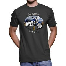 Harley Davidson Fat Boy Easy Rider Men`s Dark T-Shirt