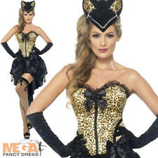 Sexy Burlesque Kitty Costume Ladies 1920s Moulin Rouge Fancy Dress Womens Outfit