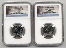 2016 D & P Fort Moultrie National Park 25c Quarter Set NGC MS 67 Early Releases