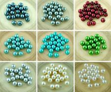 20pcs Pearl Imitation Czech Glass Round Beads 8mm
