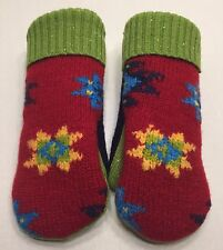 Women's Handmade Recycled Wool Sweaters Fleece Lined Mittens Med