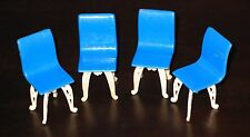 Plasco PATIO  4  CHAIRS Vintage Dollhouse Furniture Plastic