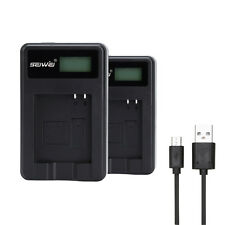 SEIWEI USB Battery Charger With LCD Screen Display For Camera Panasonic Battery