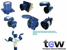 240V 16AMP 3PIN BLUE INDUSTRIAL PLUGS AND SOCKETS IP44 CAMPING CARAVAN LEAD