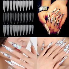 Hot 500Pcs/Bag Natural French Acrylic False Fake Nail Art Fingernail Full Tip
