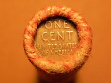 Old wheat cent roll from estate sale Lincoln penny mixed mint unopened.