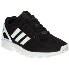 New Mens adidas Black Zx Flux Em Nylon Trainers Retro Lace Up