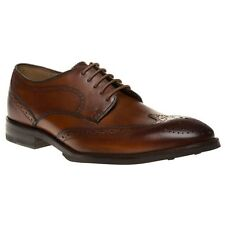 New Mens Aquascutum Brown Brogue Leather Shoes Lace Up