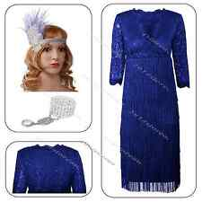 Flapper Dress Cocktail Sequin Party Deco Evening Fringed Size 8 10 12 14 Costume