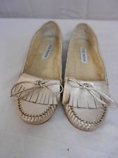 Steve Madden Climate Metallic Moccasin Faux Fur Lined Size 7.5