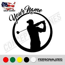 Golf Custom Personalized Name Decal Sticker For Wall Car Laptop Phone Cooler