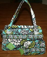 NWT Vera Bradley WHITNEY shoulder tote bag & SMALL COSMETIC  RETIRED MSRP $100