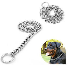 Pet Dog Choke Chain Collar Strong Silver Stainless Steel Training 4 Sizes hot