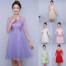Fashion Women Lace Dress Bridesmaid Wedding Prom Evening Party Cocktail