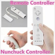 Pro Ergonimic Design Remote Nunchuck Controller 2 in1 Set For Wii U Wii White DP