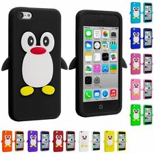 Penguin SOFT SILICONE RUBBER GEL Skin Case Cover For iPhone 5 5S 5Th Case