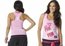 Authentic New Zumba Party in Pink Racerback Tank Top ~~ Size  S, M ~~ NWT