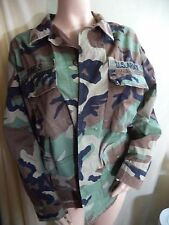 US Army Shirt Man Heavy Cotton Blend M Woodland Camouflage Green VGC Hunting