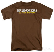 Drummers Do It Apparel T-Shirt - Coffee