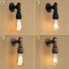 Loft Style Iron Water Pipe Porch Wall Sconce Lamp Wall Light Fixture 8036U