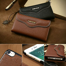 2 in 1 Removable Leather Magnetic Flip Card Wallet Case For iPhone 7 & 6/6S Plus