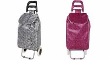 Folding Wheeled Funky Shopping Trolley Festival Bag New Strong Waterproof Light