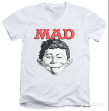 Mad Magazine - U Mad V-Neck Apparel T-Shirt - White