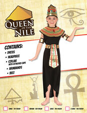 Girls Queen of the Nile Fancy Dress Costume Girls Black General Costumes