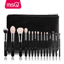 15PCS SOFT MAKEUP BRUSHES PROFESSIONAL COSMETIC MAKE UP BRUSH TOOL SET BLACK MSQ