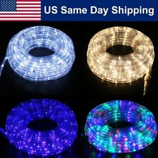 50'LED Rope Light Outdoor/Indoor Home Christmas Decorative 8Lighting Mode Party