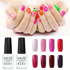 BELLE FILLE Nail Art Gel Color Polish Soak-off UV/LED Manicure DIY Varnish 8ml
