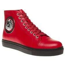 New Mens Versus Red Lion Hi-Top Leather Trainers Hi Top Lace Up