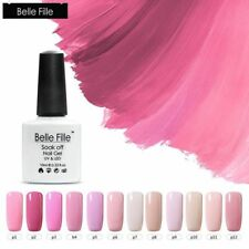 BELLE FILLE Pink UV Gel Color Soak off LED Nail Art Gel Polish Manicure DIY 10ml