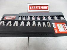 "NEW CRAFTSMAN  3/8"" 12 POINT PT DEEP SAE OR METRIC SOCKET 9 PC SET ~ YOUR CHOICE"