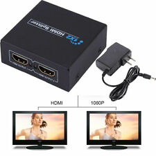 1x2 Port HDMI Audio Video v1.3b 1080p Splitter Adapter for HD TV PS3 3D