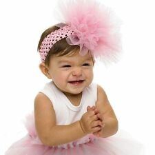 Mud Pie Little Girl Baby Pretty In Pink Ballerina Tulle Puff Headband 171938
